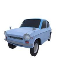 classic japanese car 3D model