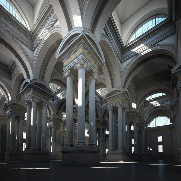 3D classical interior stone model