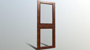 low-poly door 3D model