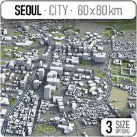 seoul korea urban 3D model