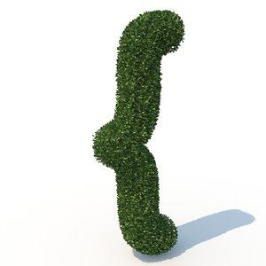 3D { hedge