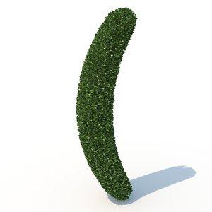 3D shaped hedge model