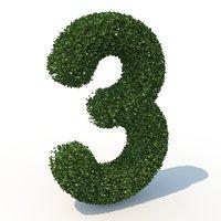 3D 3 hedge