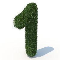 1 hedge 3D