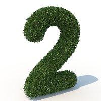 2 hedge 3D model