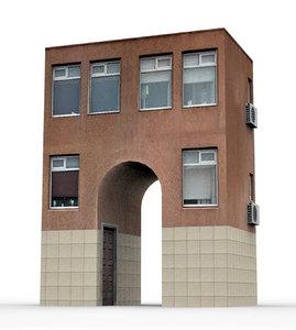 european building 6 model