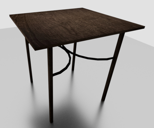 bistro table 3D model
