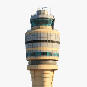 atlanta air control tower 3D