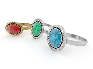 stone rings 3D model