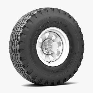 road wheel tire 3D model