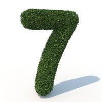 3D 7 hedge