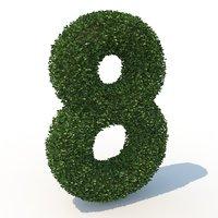 8 hedge 3D