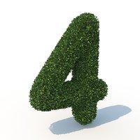 3D 4 hedge model