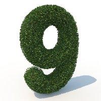 9 hedge 3D model