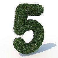 5 hedge 3D model