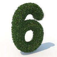 3D model 6 hedge