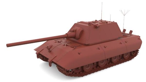 e-100 ausf b 128 3D model
