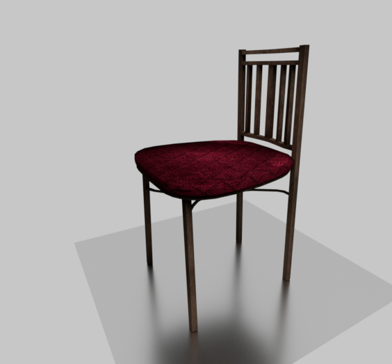 3D bistro chair