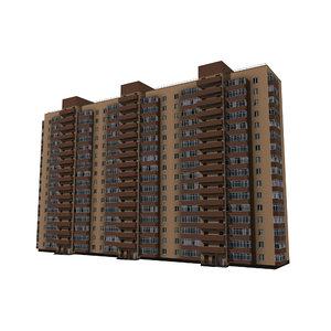 brick residential multi-storey 3D
