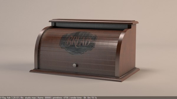 3D bread box breadbox