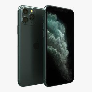 3D apple iphone 11r white model