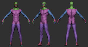 male body 3D