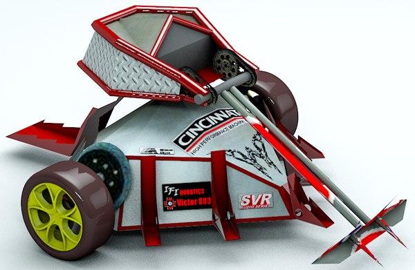 robot fight 3D model