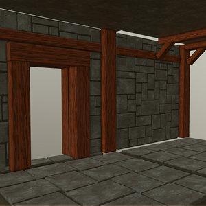 3D model dungeon set