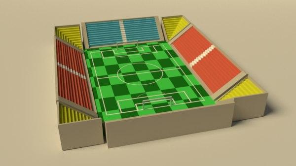 stadium low-poly 3D model