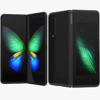Samsung Galaxy Fold Cosmos Black (Animated)