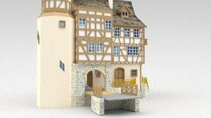 3D model castle entrace