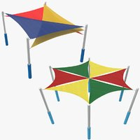 playground tent modeled 3D model