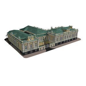 3D model historical house