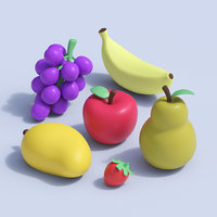 Stylized Cartoon Fruit Collection