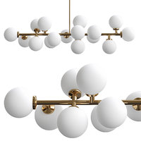 modern led chandelier light 3D