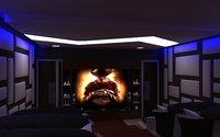 109 realistic home theater interior