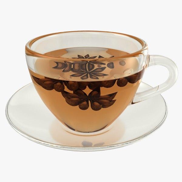 realistic anise tea 3D model