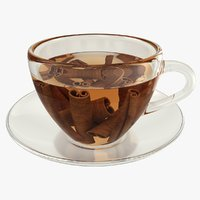 3D model realistic cinnamon tea