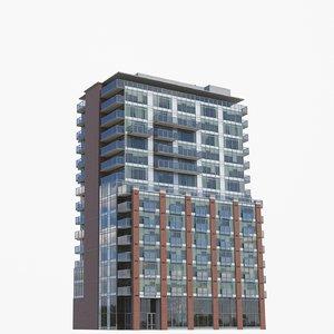 3D 64 sherbourne buildings model