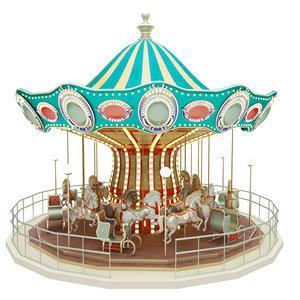 3d carousel toy atlkarunca model