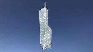 bank china tower hong 3D model