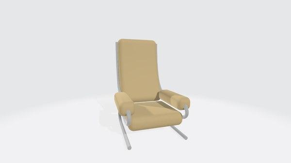 3D arm chair simple