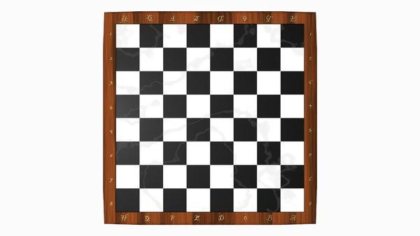 3D checkerboard pieces separate model