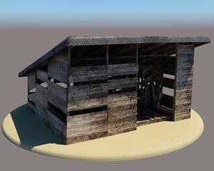 barn farm 3D model