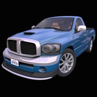 generic single cab pick-up truck 3D model