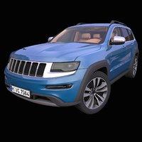 generic american suv interior car 3D model