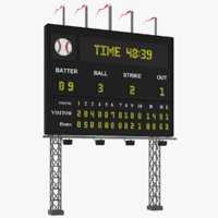 real baseball scoreboard board model