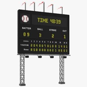 real baseball scoreboard board model