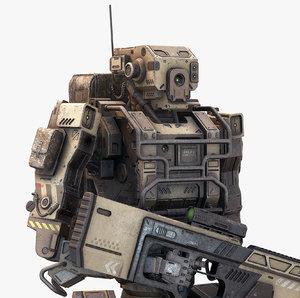 3D robot soldier model