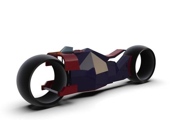ready futuristic bike 3D
